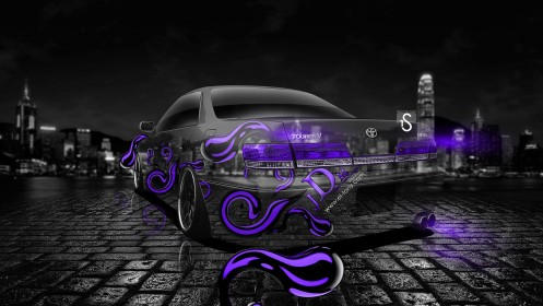 Toyota-Mark-2-JZX100-Back-JDM-Violet-Crystal-Effects-Car-2013-design-by-Tony-Kokhan-[www.el-tony.com]