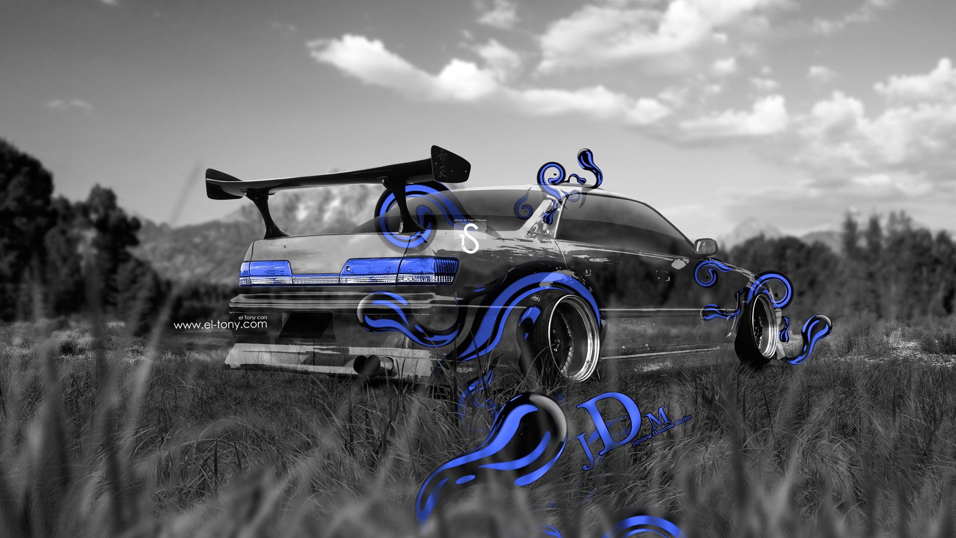 Superior Toyota Mark 2 JZX100 JDM Blue Style Crystal  ... Awesome Design