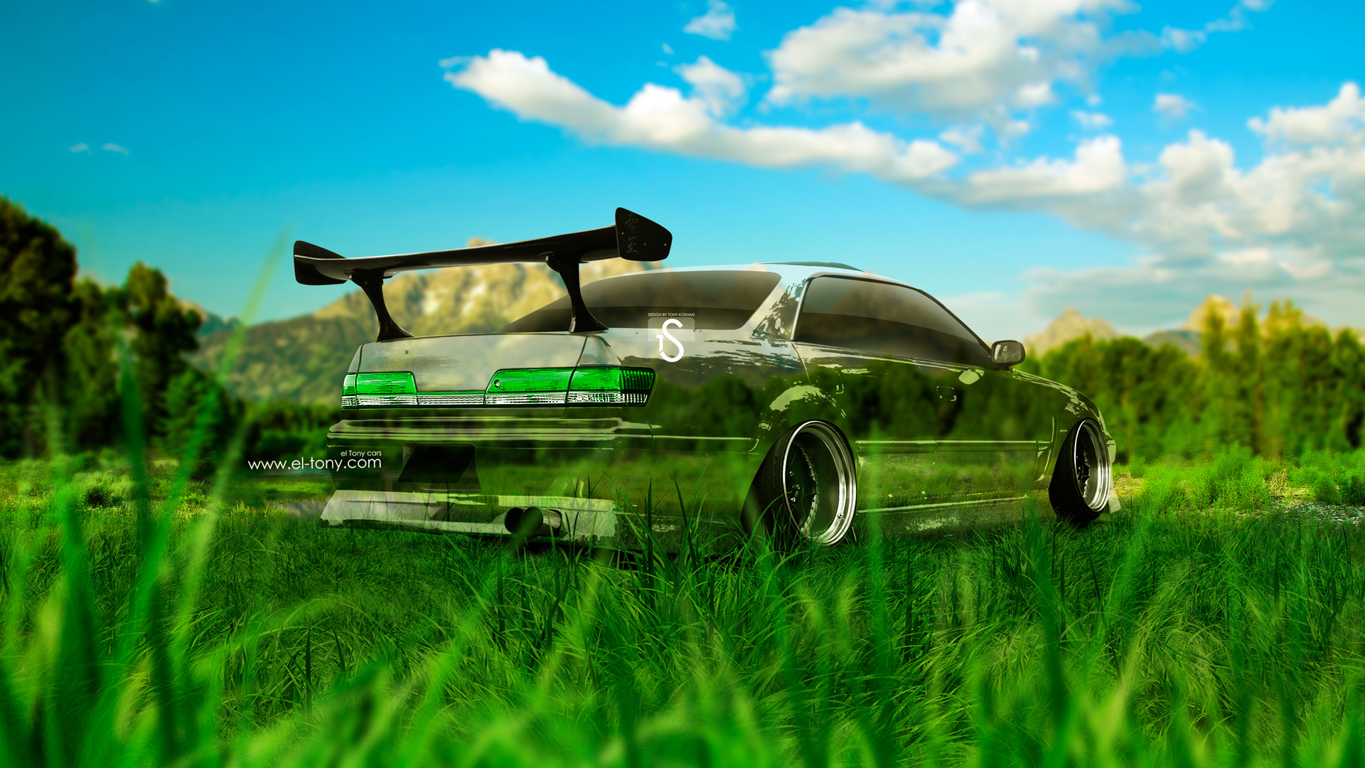 Bon Toyota Mark 2 JZX100 JDM Crystal Nature Car