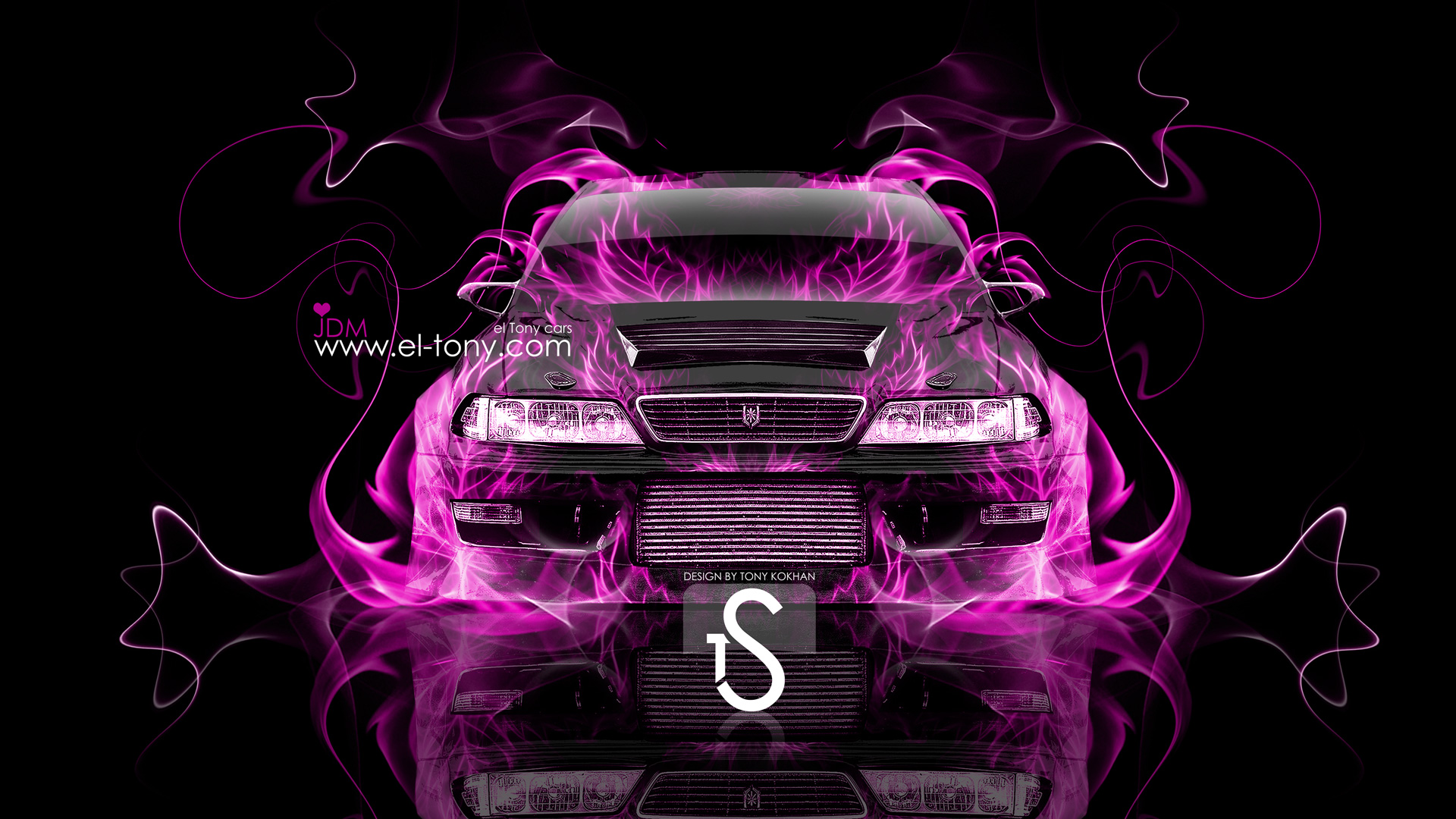 ... Toyota Mark 2 JZX100 JDM Front Pink Fire  ...
