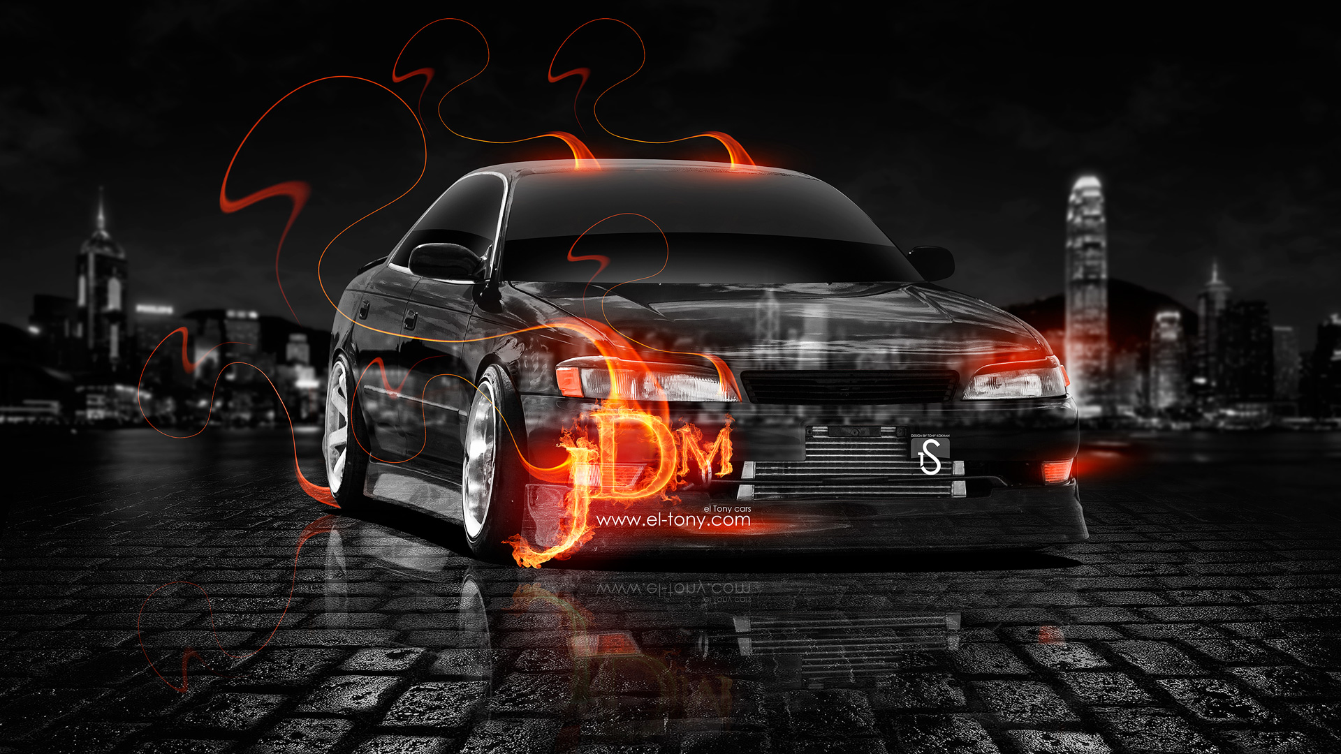 Superbe Toyota Mark 2 JZX90 JDM Fire Crystal City Car 2013