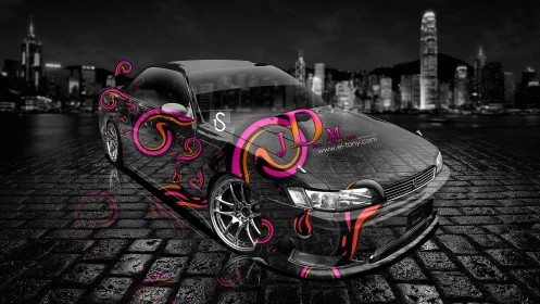 Toyota-Mark-2-JZX90-JDM-Plastic-Effects-Car-2013-HD-Wallpapers-design-by-Tony-Kokhan-[www.el-tony.com]