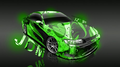 Toyota-Mark-2-JZX90-JDM-SB-Super-Aerography-2013-Green-HD-Wallpapers-design-by-Tony-Kokhan-[www.el-tony.com]