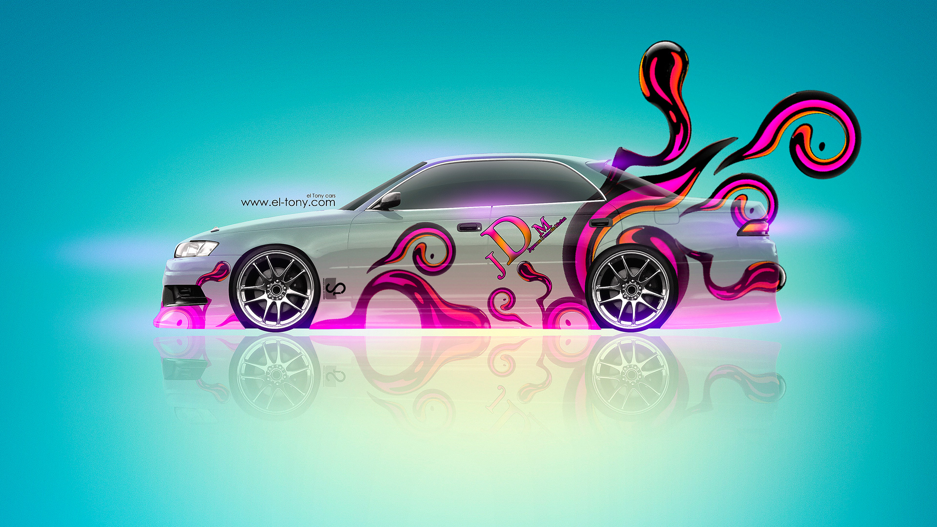 Mazda Miata JDM Fantasy Flowers City Car 2014 · Toyota Mark 2 JZX110 JDM  Effects 2013