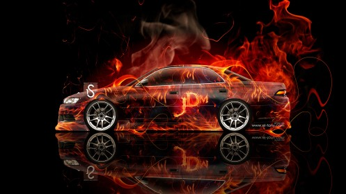 Toyota-Mark-2-JZX90-JDM-Side-View-Fire-Abstract-Car-2013-design-by-Tony-Kokhan-[www.el-tony.com]
