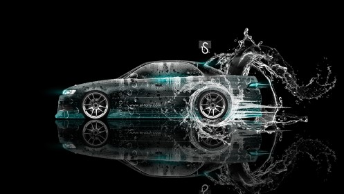 Toyota-Mark-2-JZX90-JDM-Water-Drift-2013-Azure-Neon-HD-Wallpapers-design-by-Tony-Kokhan-[www.el-tony.com]