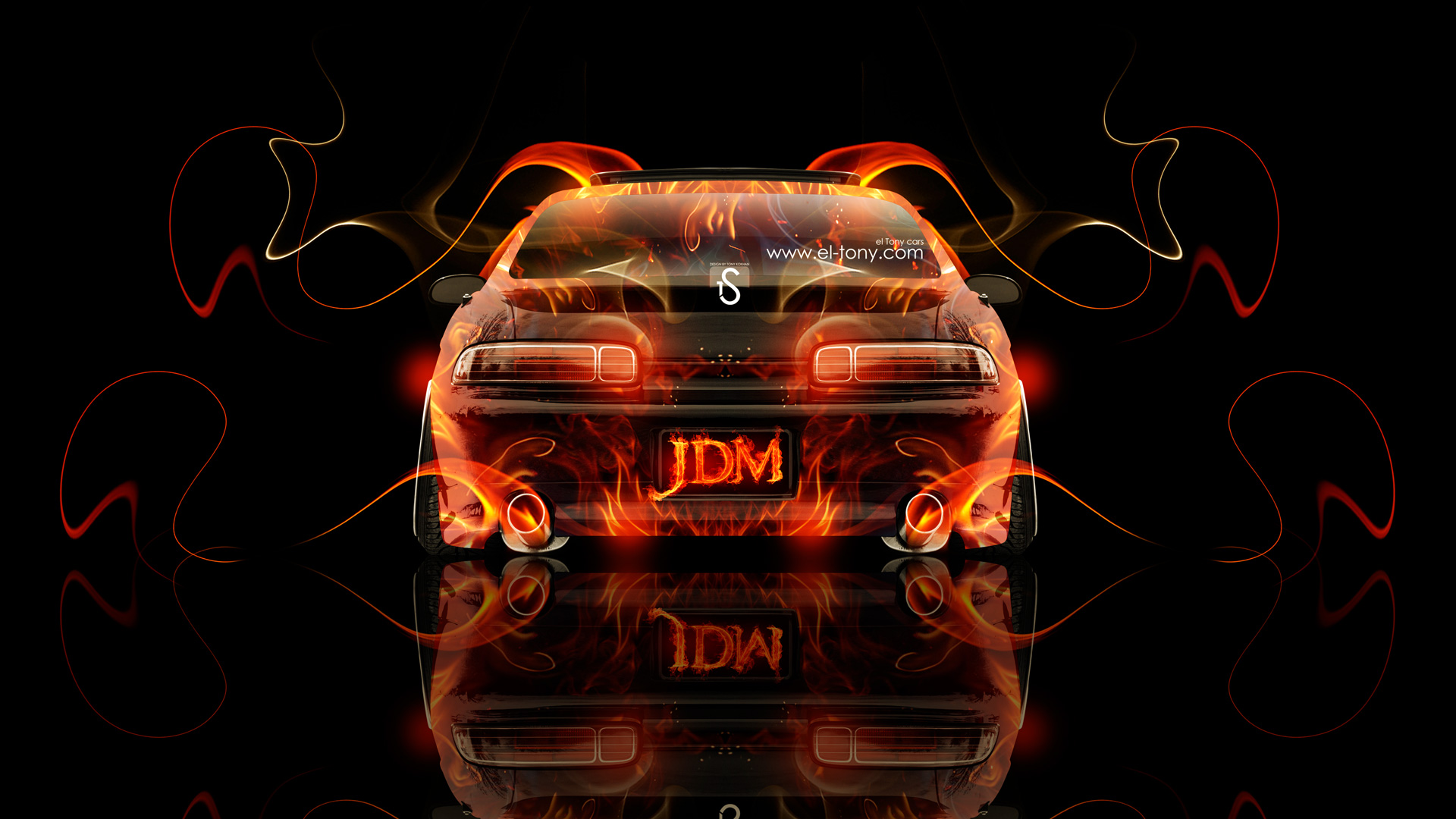 Incroyable Toyota Soarer JDM Back Fire Abstract Car 2013