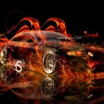 Toyota Soarer JDM Fire Car 2013