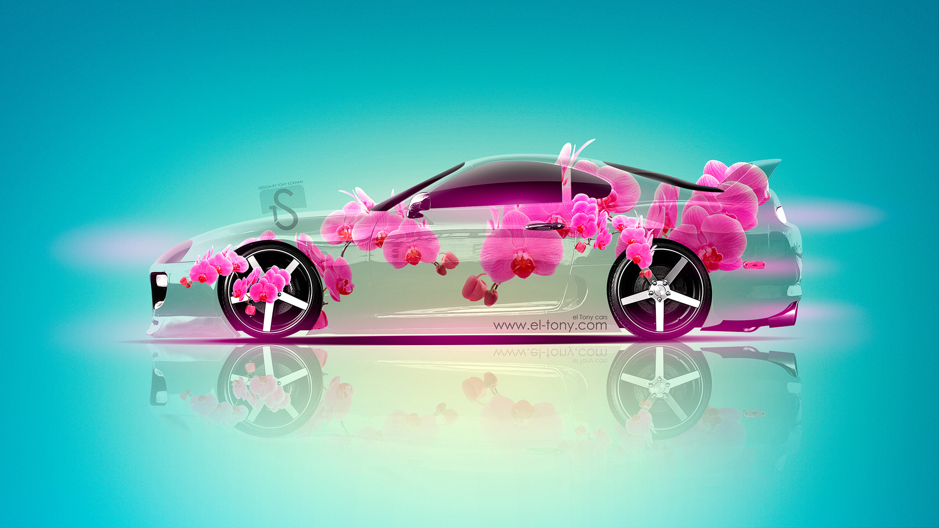 Charming Toyota Supra JDM Fantasy Flowers Car 2013
