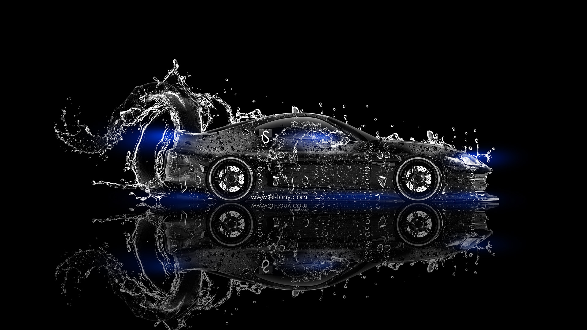 Attrayant Toyota Supra JDM Water Car 2013 Blue Neon