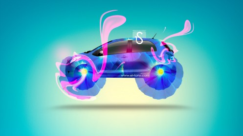 Toyota-Vitz-Fantasy-Flowers-Plastic-Car-2013-HD-Wallpapers-design-by-Tony-Kokhan-[www.el-tony.com]