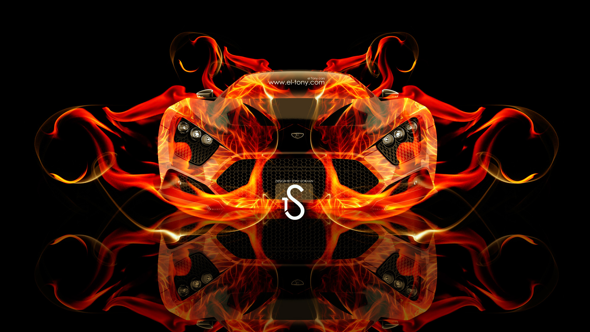 Zenvo ST1 Front Fire Abstract Car 2013