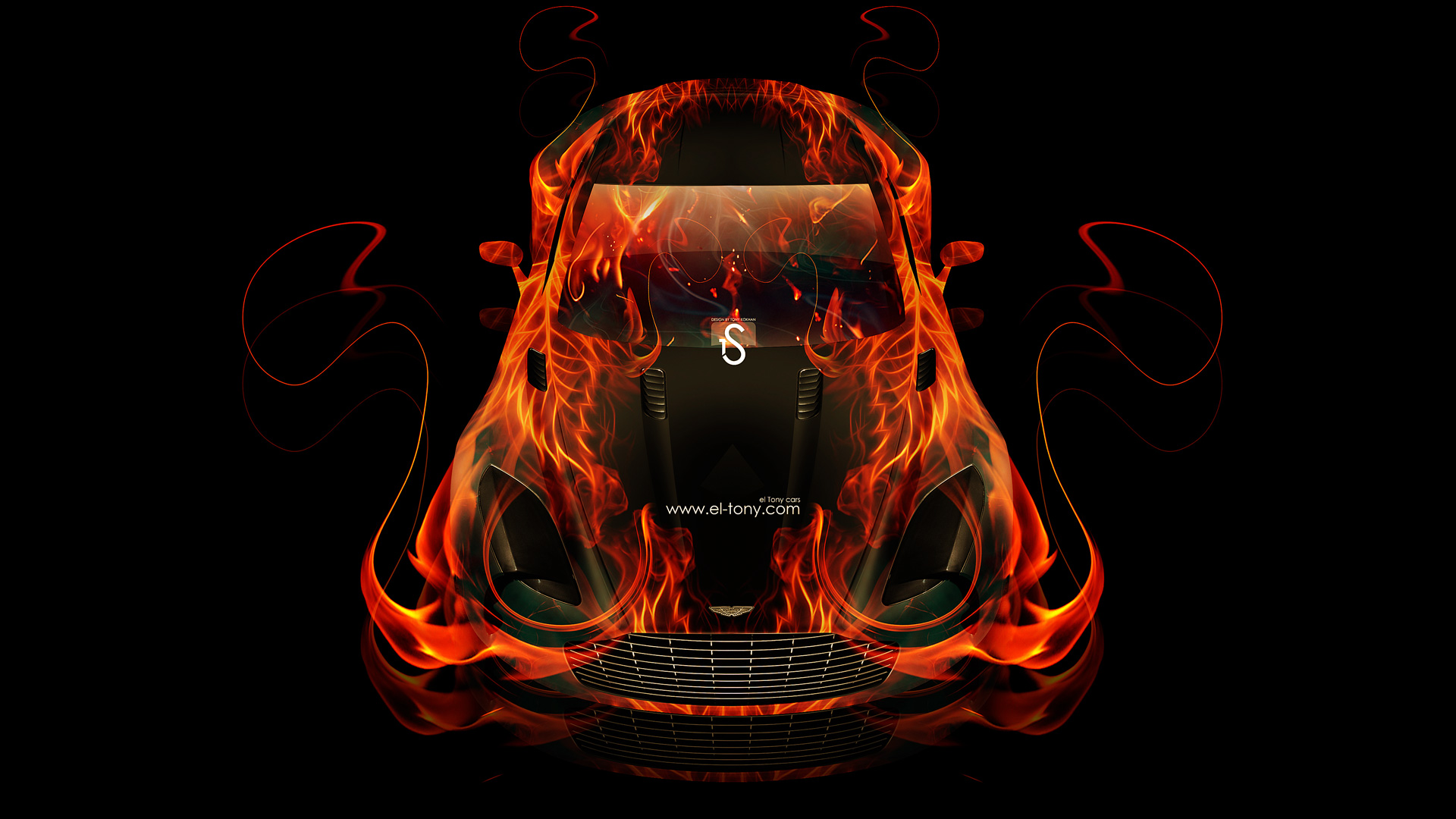 Aston-Martin-One77-Fire-Abstract-Car-2014-HD-Wallpapers-design-by-Tony-Kokhan-[www.el-tony.com]