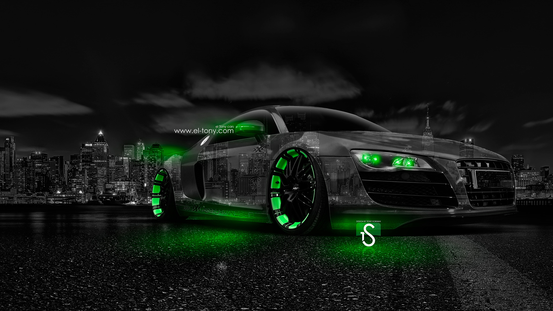 ... Audi R8 Crystal City Car 2014 Green Neon  ... Amazing Ideas