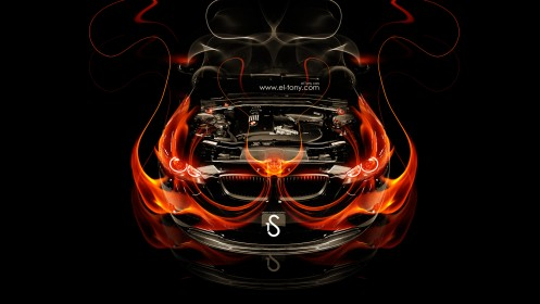 BMW-M3-Engine-Fire-Car-2014-HD-Wallpapers-design-by-Tony-Kokhan-[www.el-tony.com]