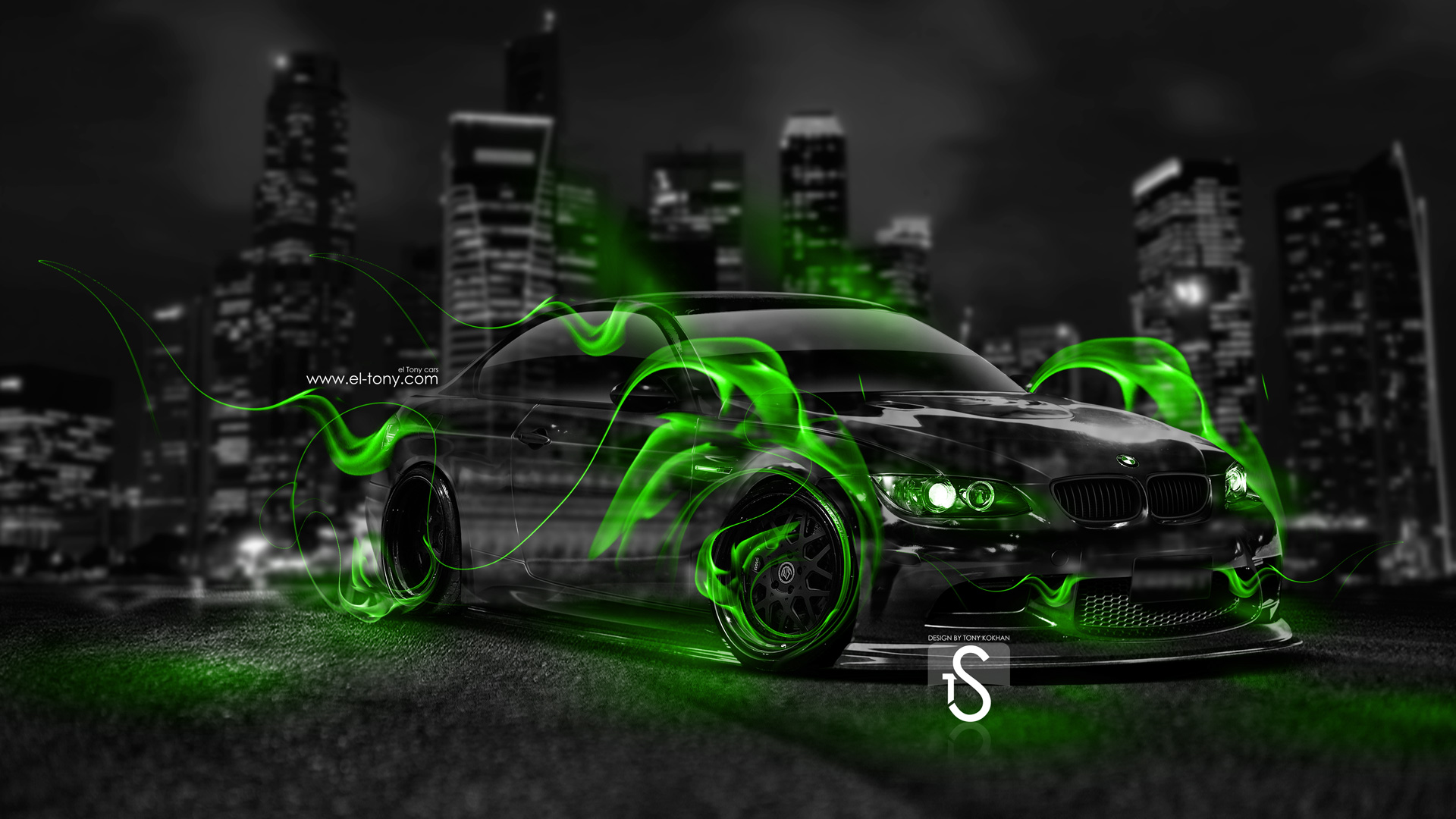 Beau BMW M3 Green Fire Crystal City Car 2014
