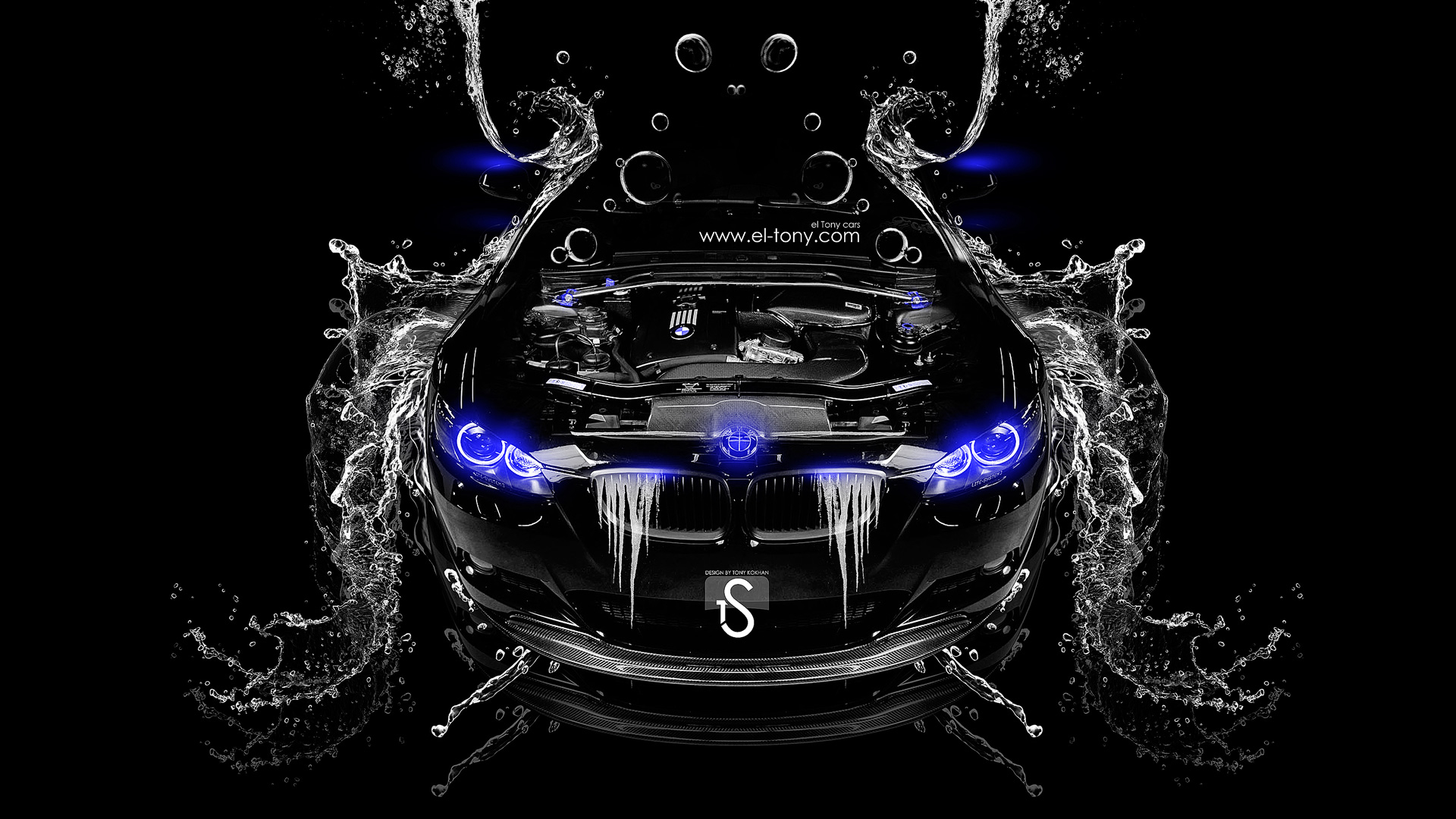 BMW M3 Water Engine 2014 Blue Neon HD