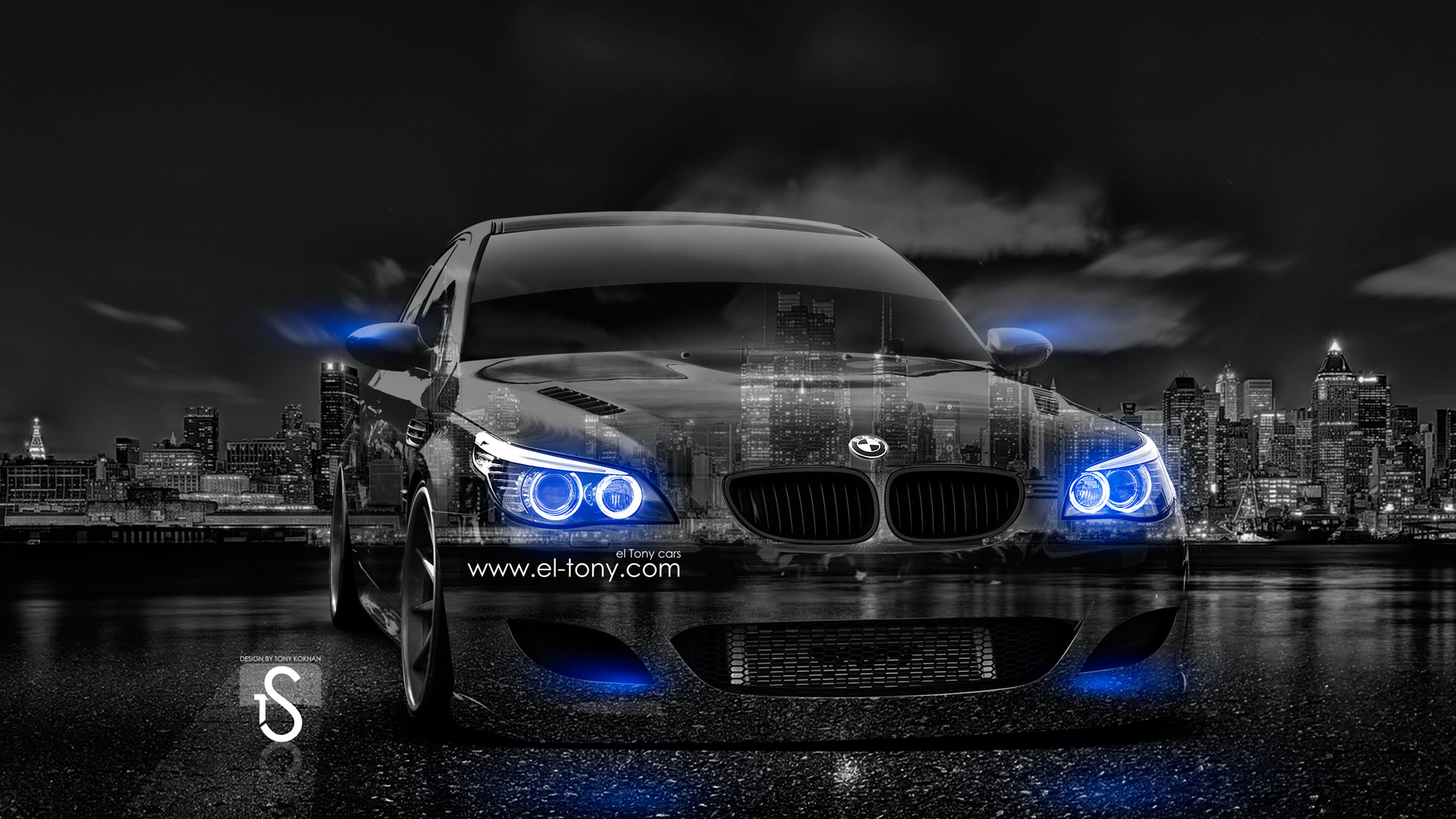 Superbe BMW M5 E60 Crystal City Car 2014 Blue