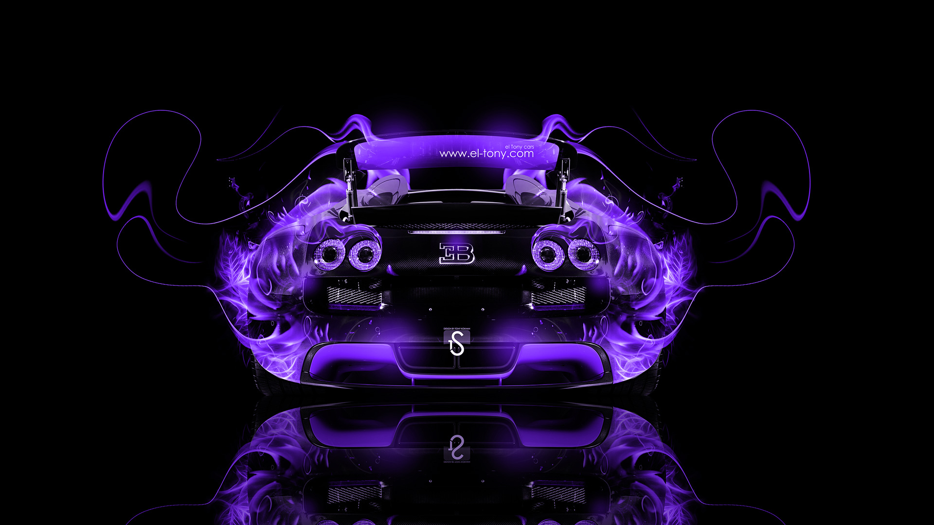 Ordinaire Bugatti Veyron Back Violet Fire Abstract Car 2014