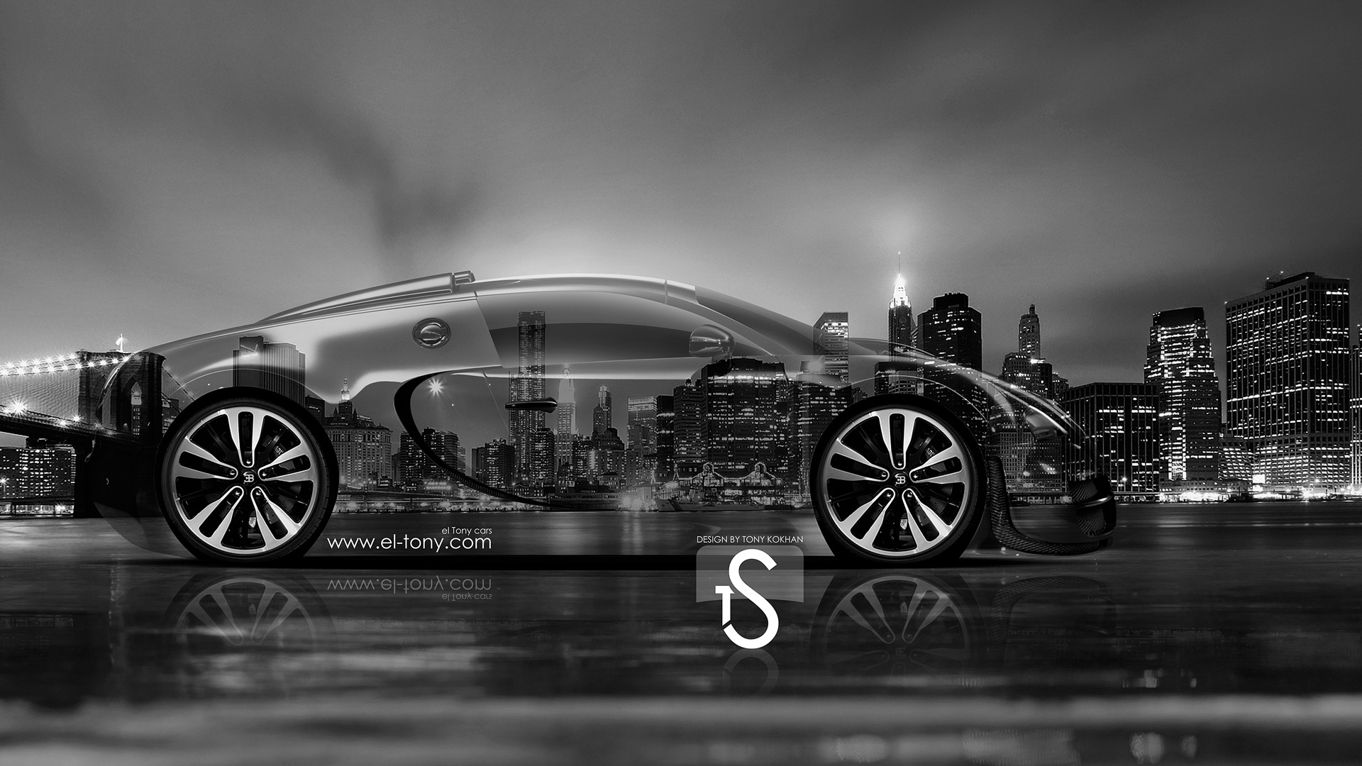 Perfect Bugatti Veyron Crystal City Car