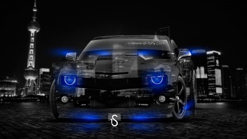 Chevrolet-Camaro-Muscle-Crystal-Blue-Neon-Car-2014-design-by-Tony-Kokhan-[www.el-tony.com]
