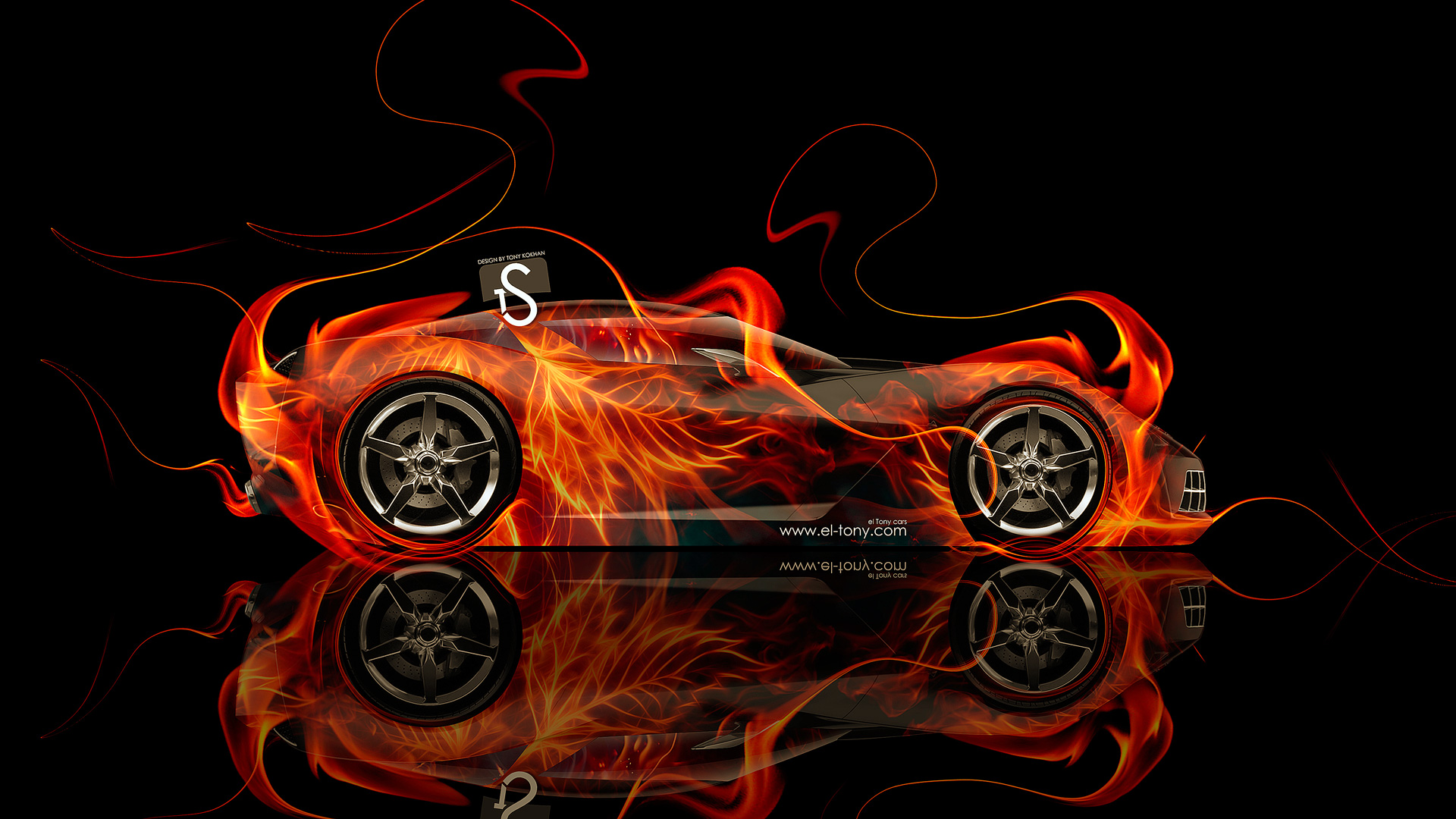 Charmant Chevrolet Corvette Stingray Fire Abstract Car 2014 Design
