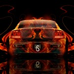 Dodge Charger SRT Back Fire Abstract Car 2014