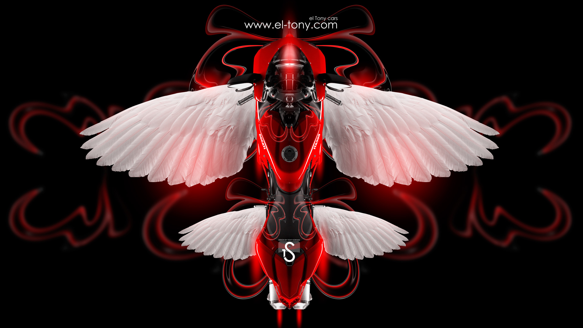 ... Ducati Fantasy Moto Fly 2014 Red Neon HD  ...
