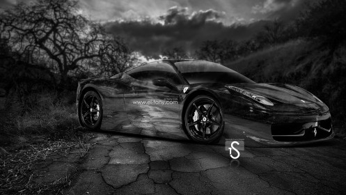 Ferrari-458-Italia-Crystal-Nature-Car-2014-HD-Wallpapers-design-by-Tony-Kokhan-[www.el-tony.com]