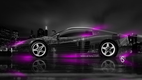 Ferrari-512-Crystal-City-Car-2014-Pink-Neon-HD-Wallpapers-design-by-Tony-Kokhan-[www.el-tony.com]
