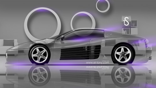 Ferrari-512-Crystal-Home-Car-2014-Violet-Neon-design-by-Tony-Kokhan-[www.el-tony.com]