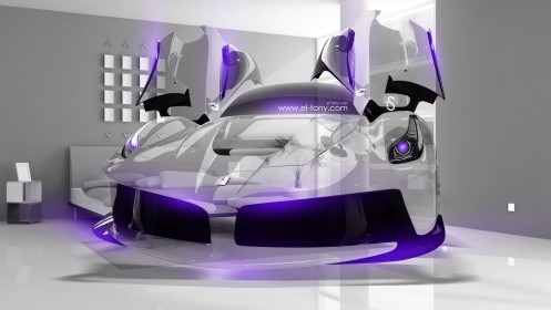 Ferrari-Laferrari-Crystal-Home-Fly-Car-2014-Violet-Neon-design-by-Tony-Kokhan-[www.el-tony.com]