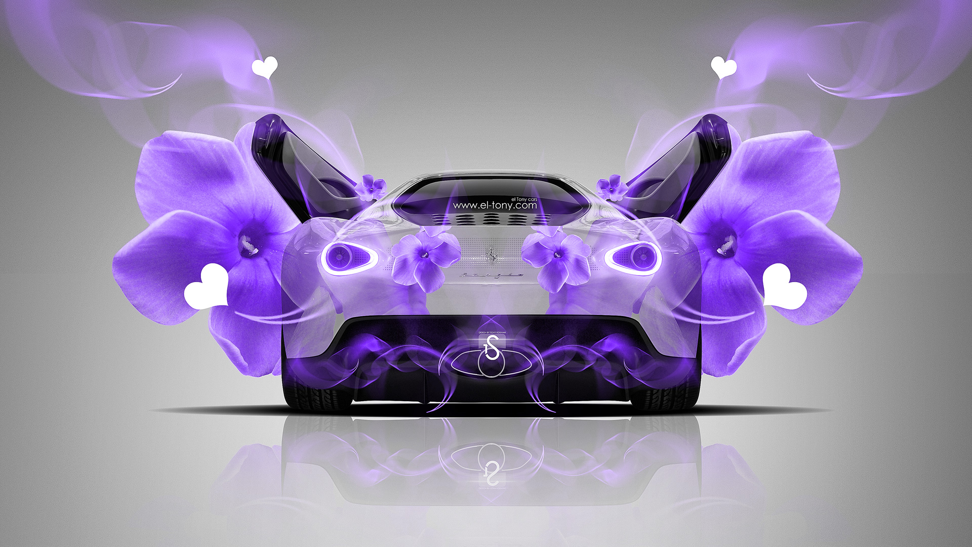 Charmant Ferrari Sergio Fantasy Heart Violet Flowers Car 2014