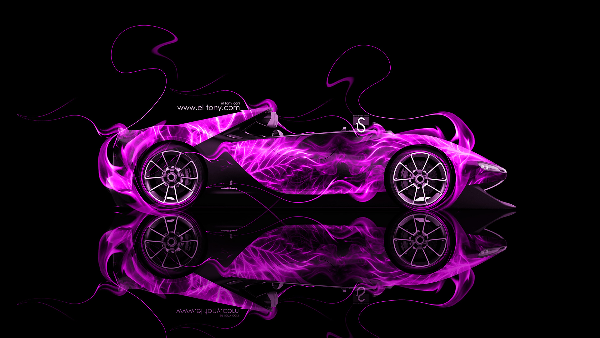 ... Ferrari Sergio Side Pink Fire Abstract Car 2014  ...