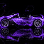 Ferrari Sergio Side Fire Abstract Car 2014