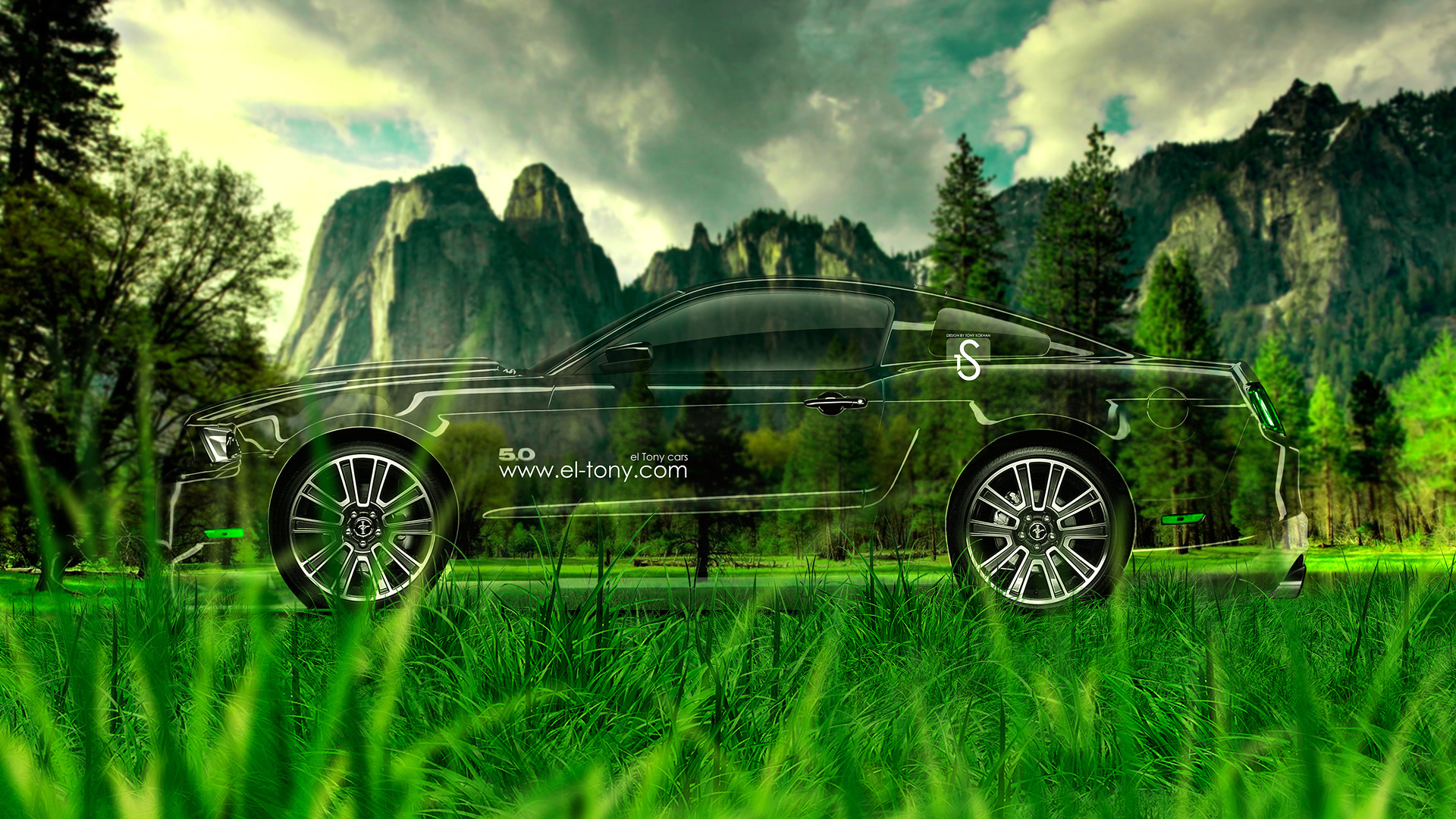 Superieur ... Ford Mustang GT Muscle Crystal Nature Car 2014