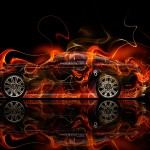 Ford Mustang GT Muscle Fire Car 2014