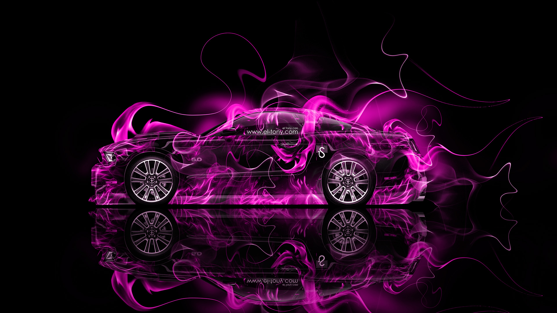 Merveilleux ... Ford Mustang GT Muscle Pink Fire Car 2014