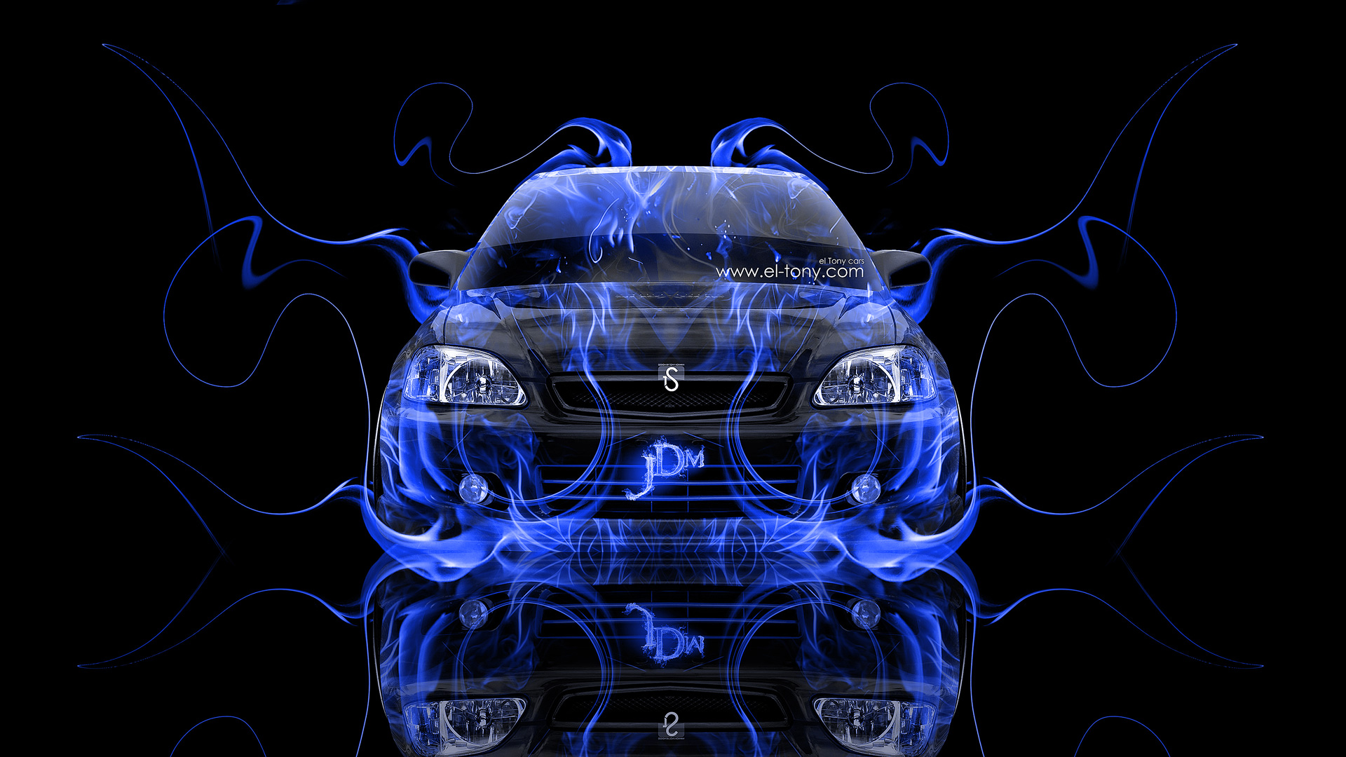 Merveilleux Honda Civic JDM Back Fire Abstract Car 2015 ...