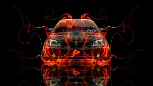 Honda-Civic-JDM-Fire-Abstract-Car-2014-HD-Wallpapers-design-by-Tony-Kokhan-[www.el-tony.com]