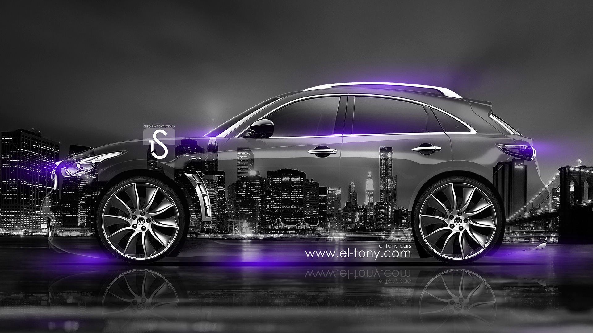 Charmant Infiniti FX Crystal City Car 2014 Violet Neon