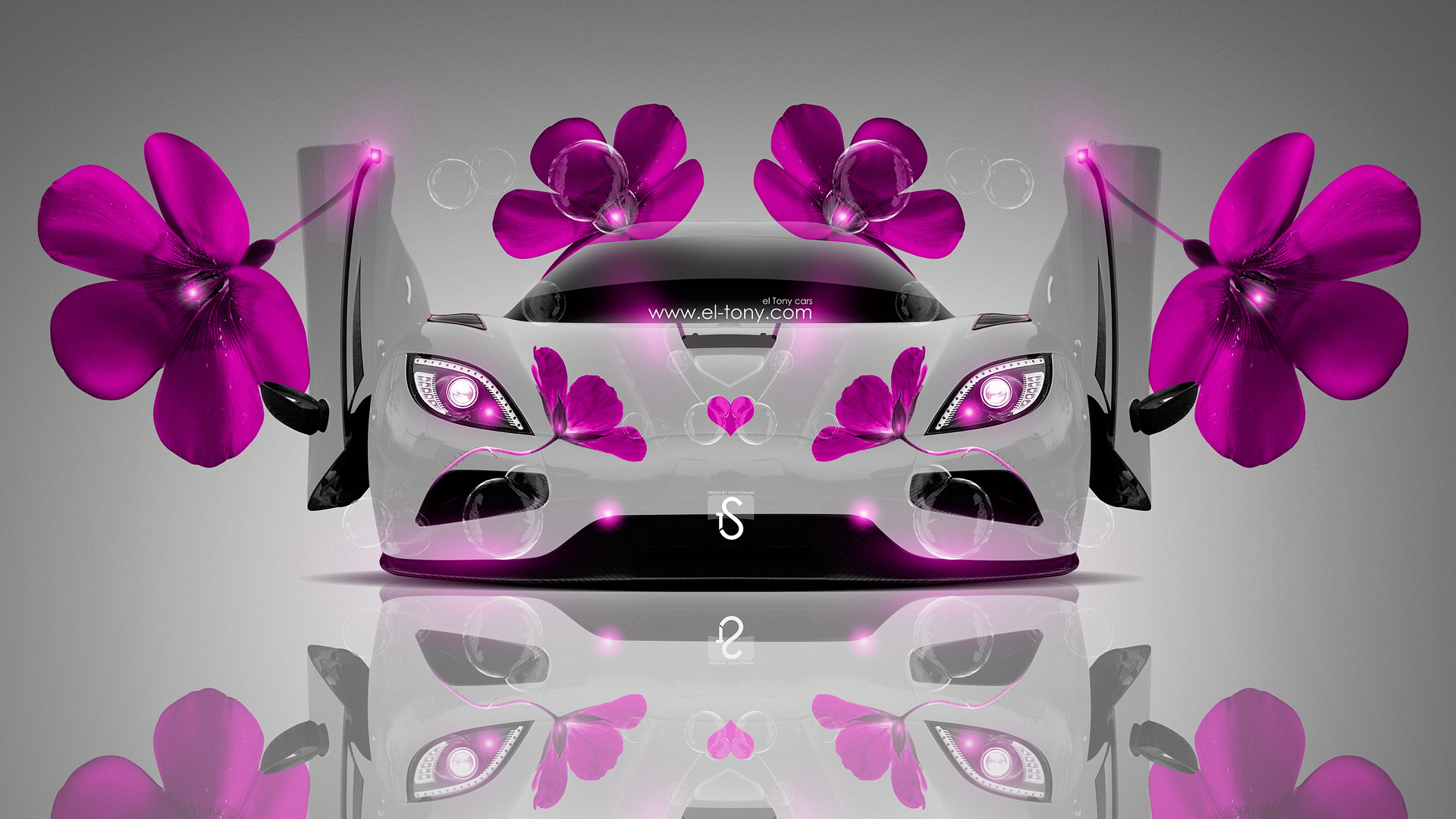 Exceptional Koenigsegg Agera Fantasy Pink Flowers Car 2014 Design