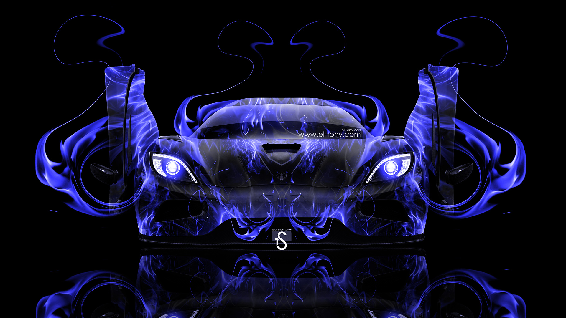 Merveilleux ... Koenigsegg Agera Open Doors Blue Fire Abstract Car  ...