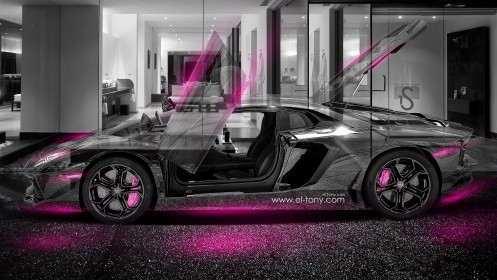 Lamborghini-Aventador-Crystal-Home-Car-2014-Pink-Neon-design-by-Tony-Kokhan-[www.el-tony.com]