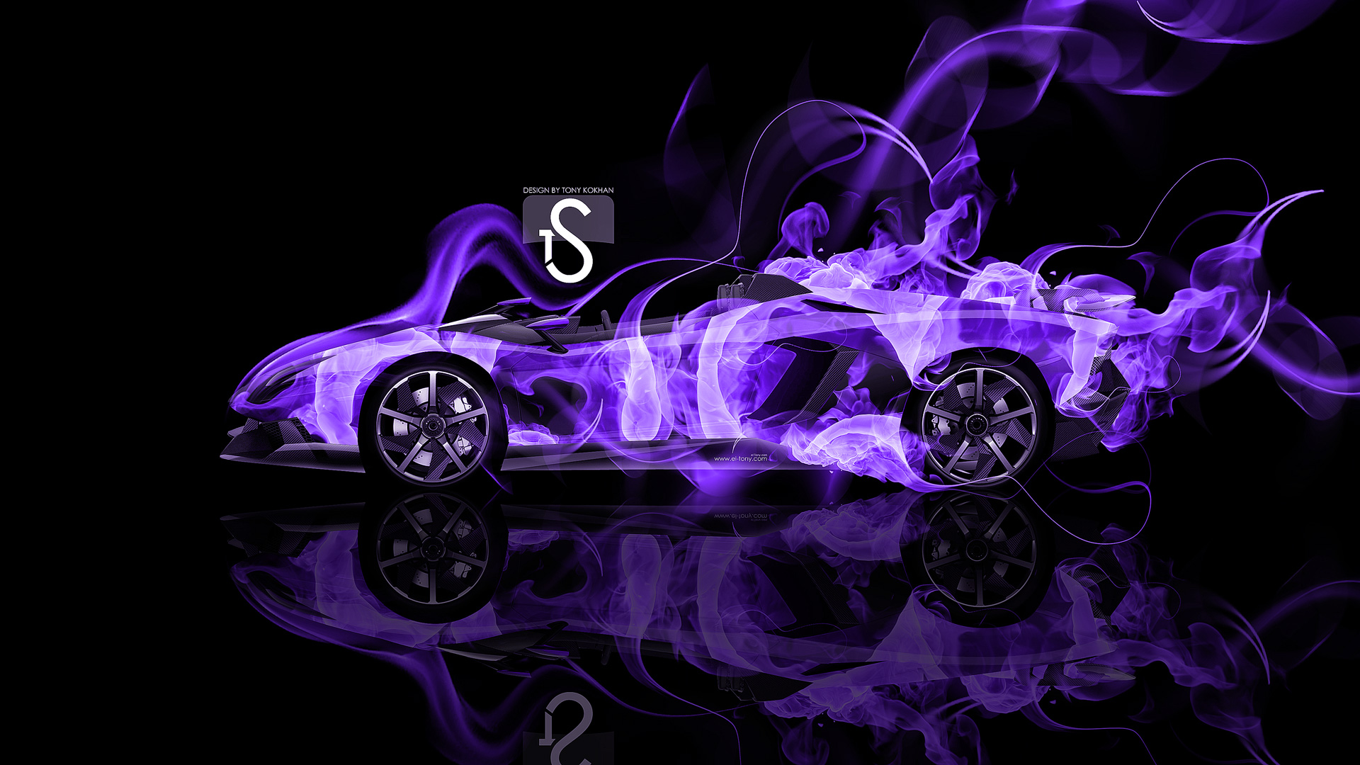 ... Lamborghini Aventador J Fire Abstract Car 2014