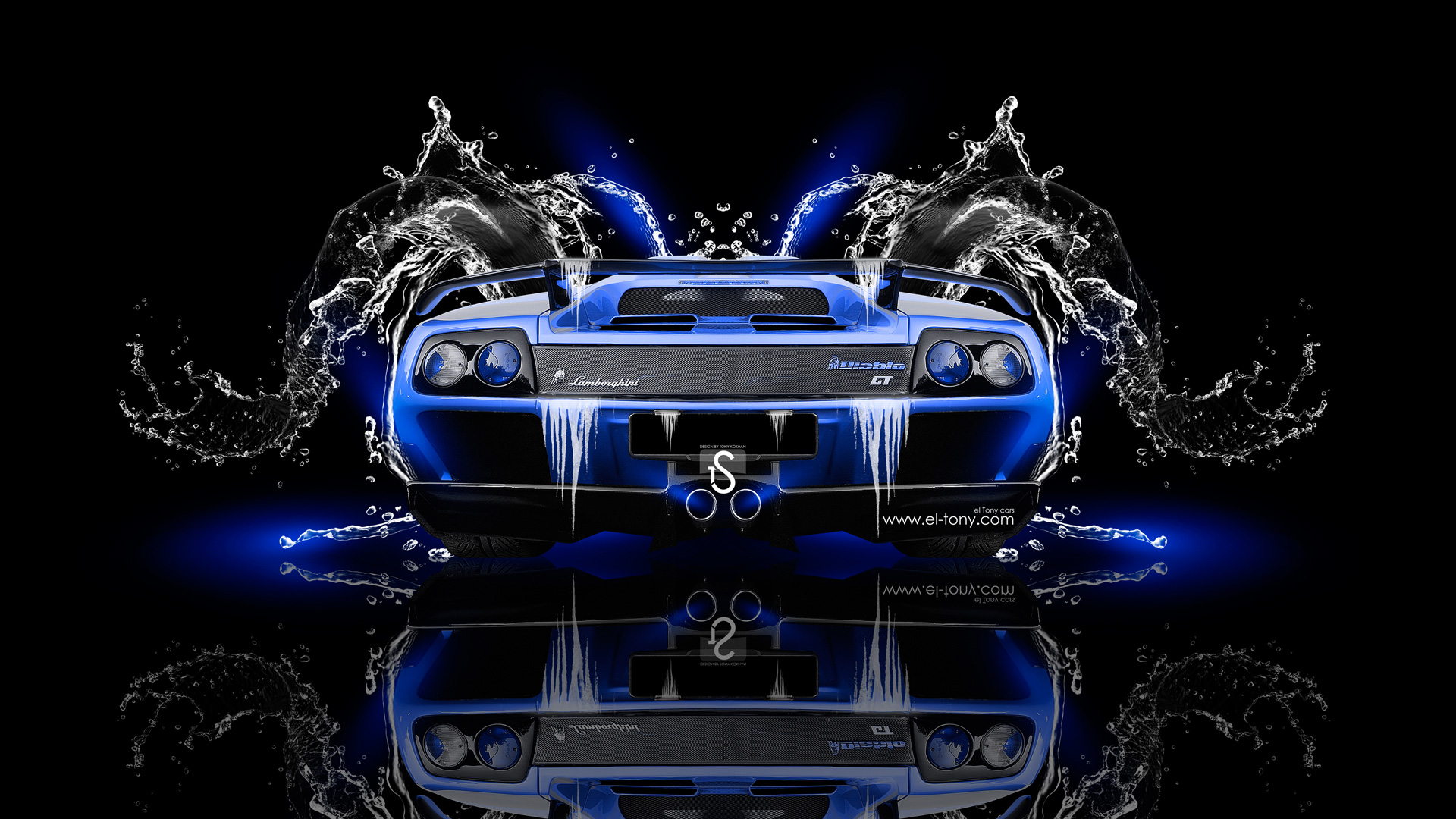 Beau Lamborghini Diablo Back Super Water Car 2014 Blue