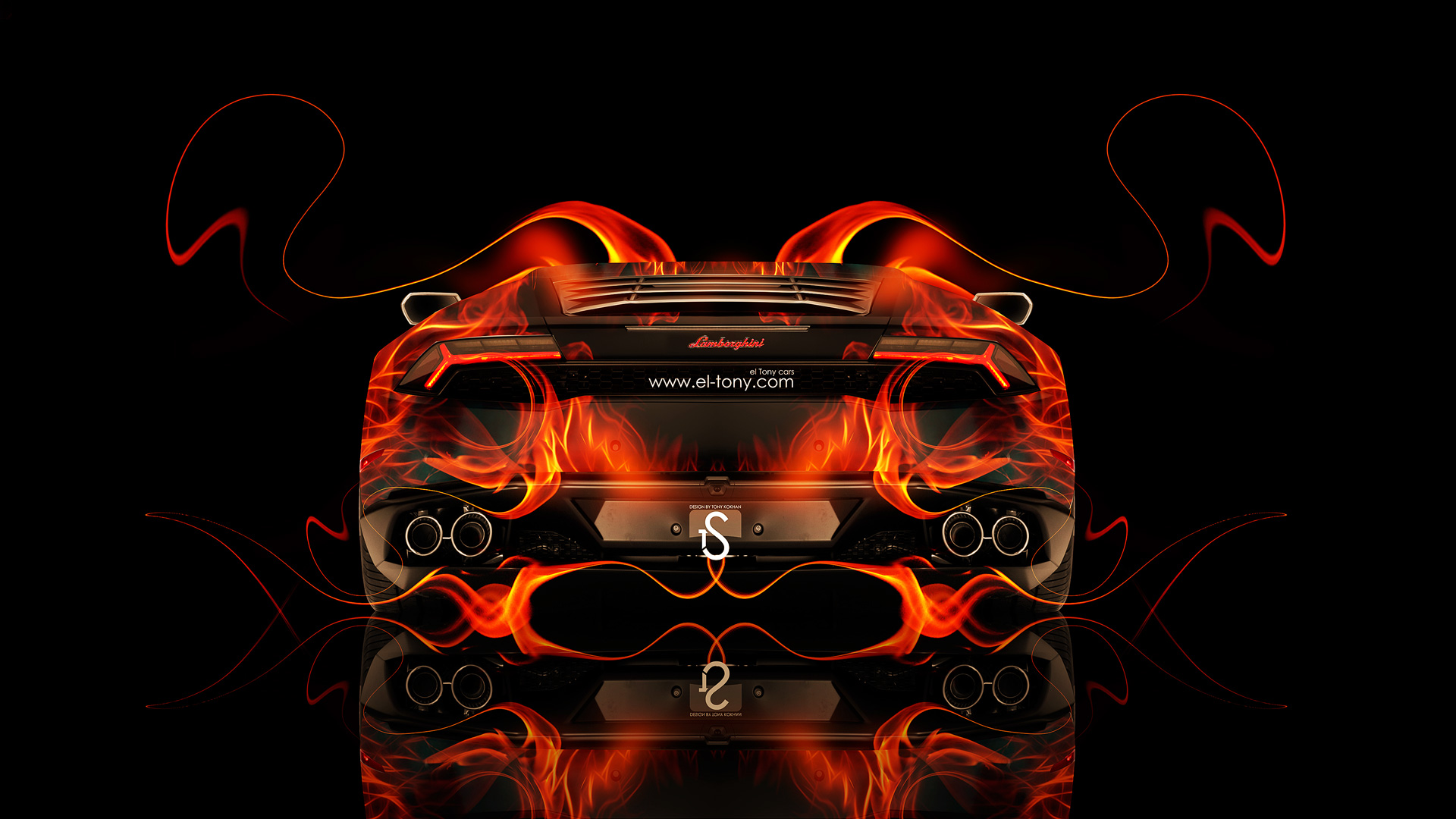 Lamborghini Huracan FrontUp Fire Abstract Car 2014 ...