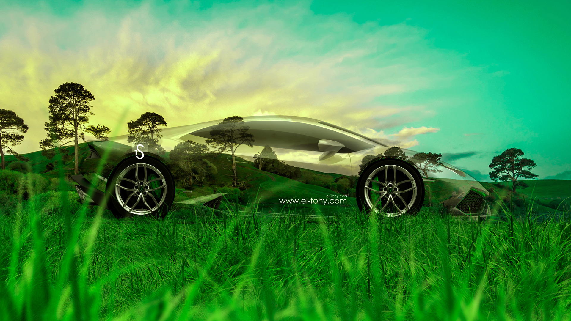 Beau Lamborghini Huracan Crystal Nature Car 2014 HD Wallpapers