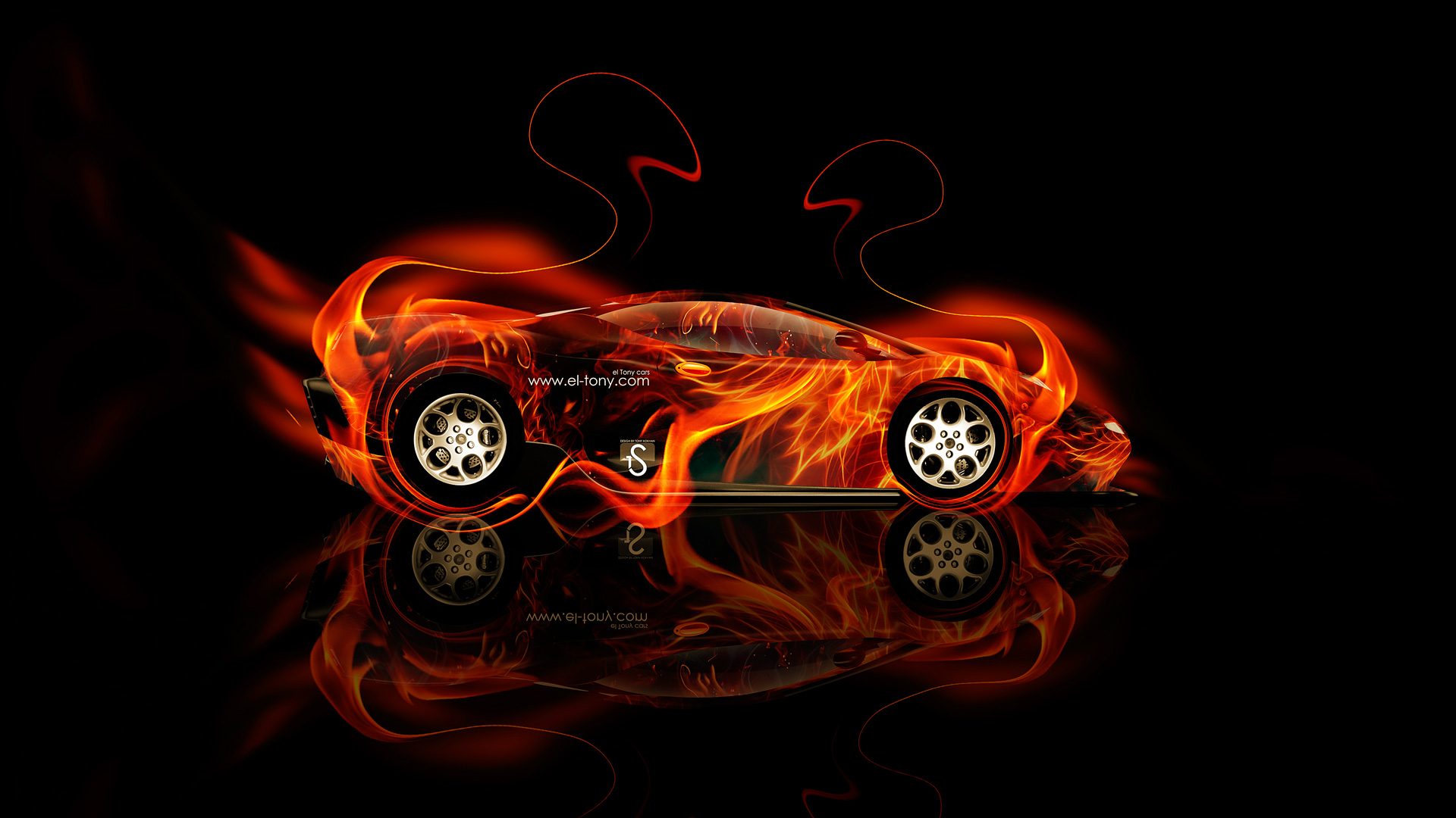 Charmant Lamborghini L147 Canto Fire Abstract Car 2014 HD