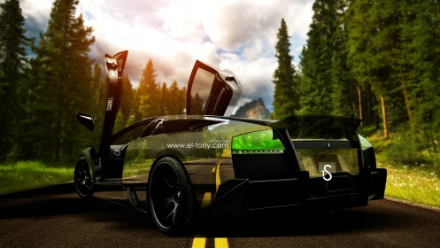 Lamborghini-Murcielago-Crystal-Nature-Car-2014-HD-Wallpapers-design-by-Tony-Kokhan-[www.el-tony.com]